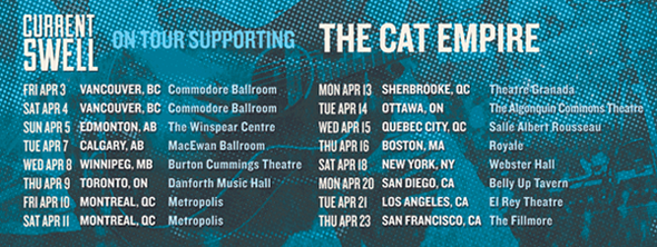On tour with The Cat Empire!